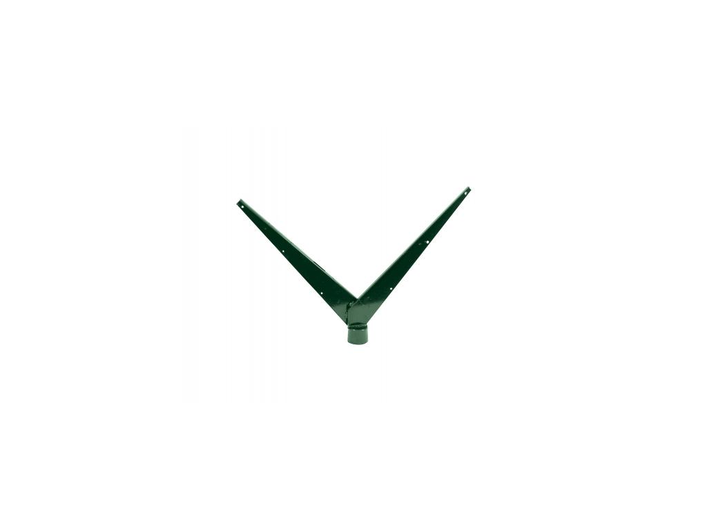 3590 bavolet na sloupek 48 mm zn pvc dvoustranny zeleny