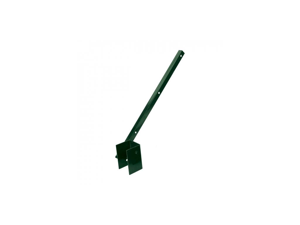 bavolet na ctyrhranny sloupek 60 60 mm jednostranny vnitrni poplastovany zn pvc 8595068409886