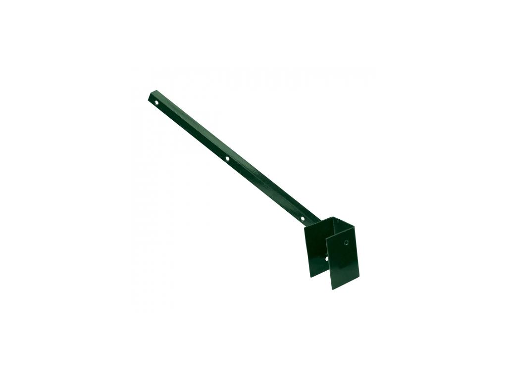 bavolet na ctyrhranny sloupek 60 60 mm jednostranny vnejsi poplastovany zn pvc 8595068414279