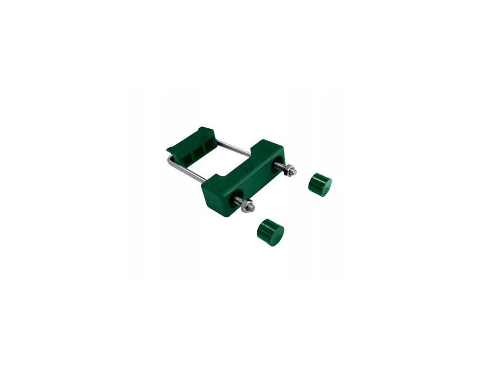 3716 prichytka panelu 2d 3d na sloupek 60x40 mm pvc nerez ocel zelena