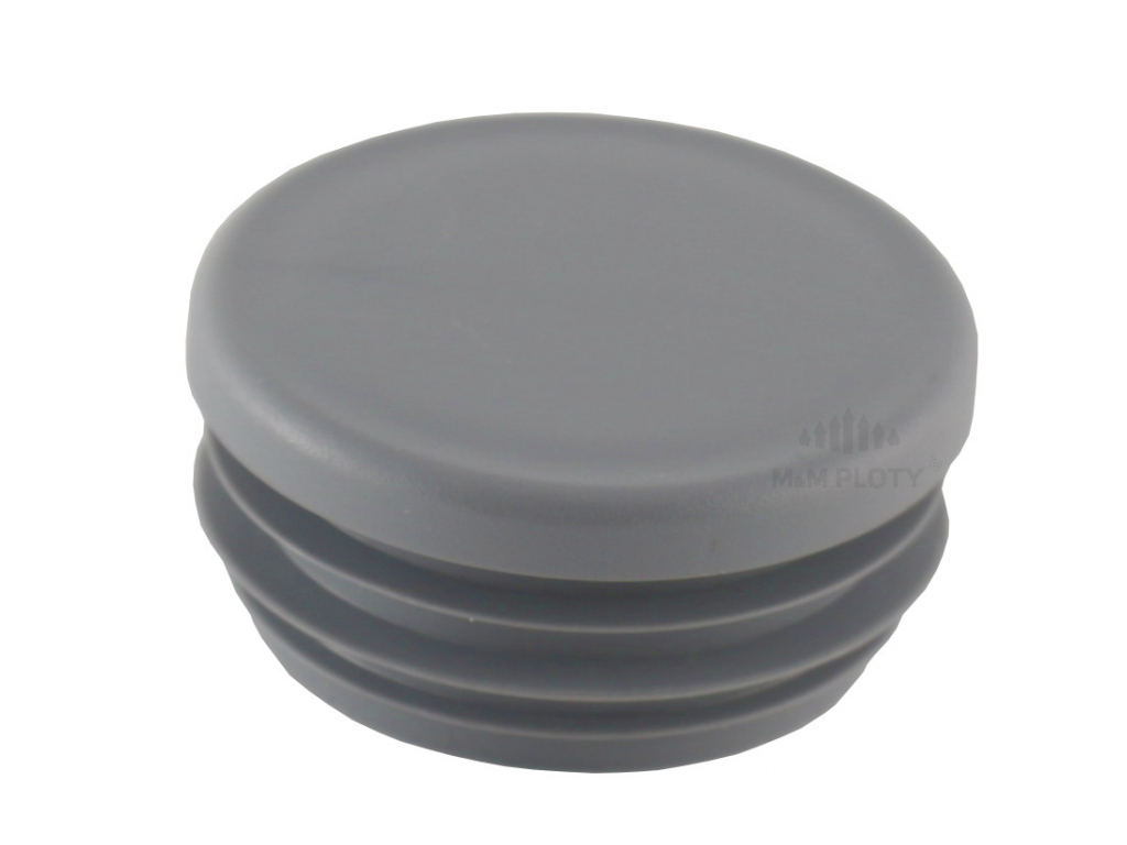 4298 1 plastova zaslepka prumer 48 mm seda
