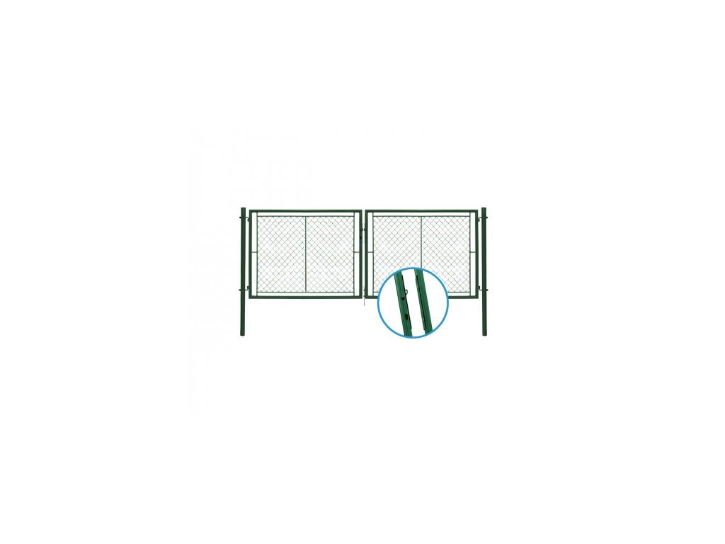 dvoukridla brana ideal ii poplastovana zn pvc rozmer 3037 1750 mm 8595068414927