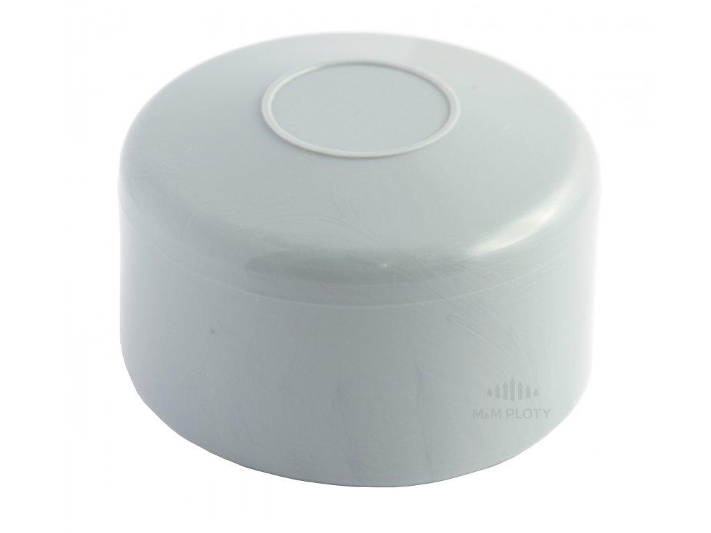 6036 cepicka pvc prumer 42 mm seda