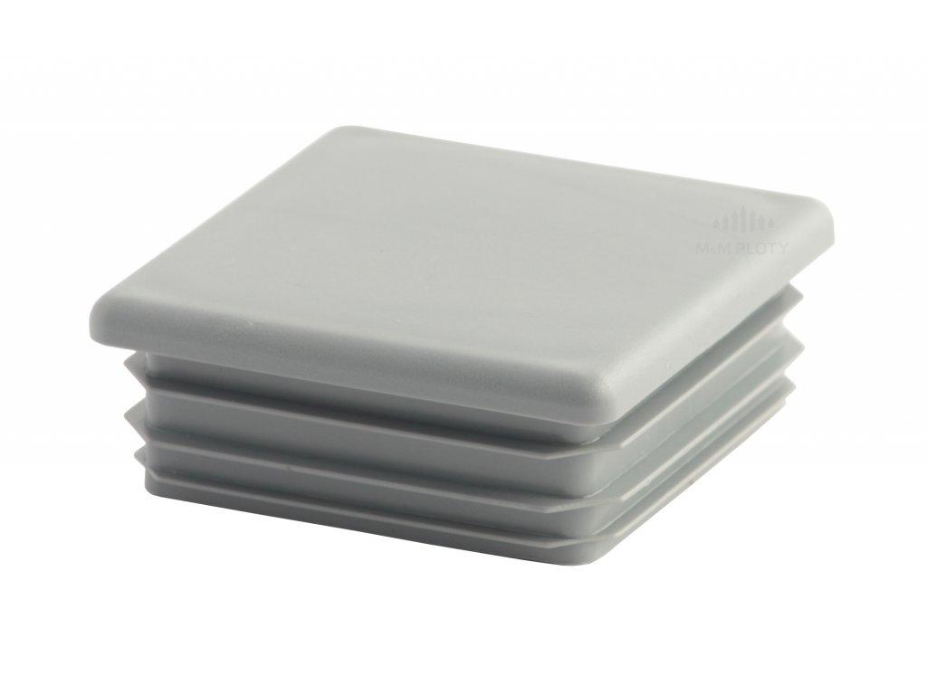 6051 plastova zaslepka 70x70 mm seda