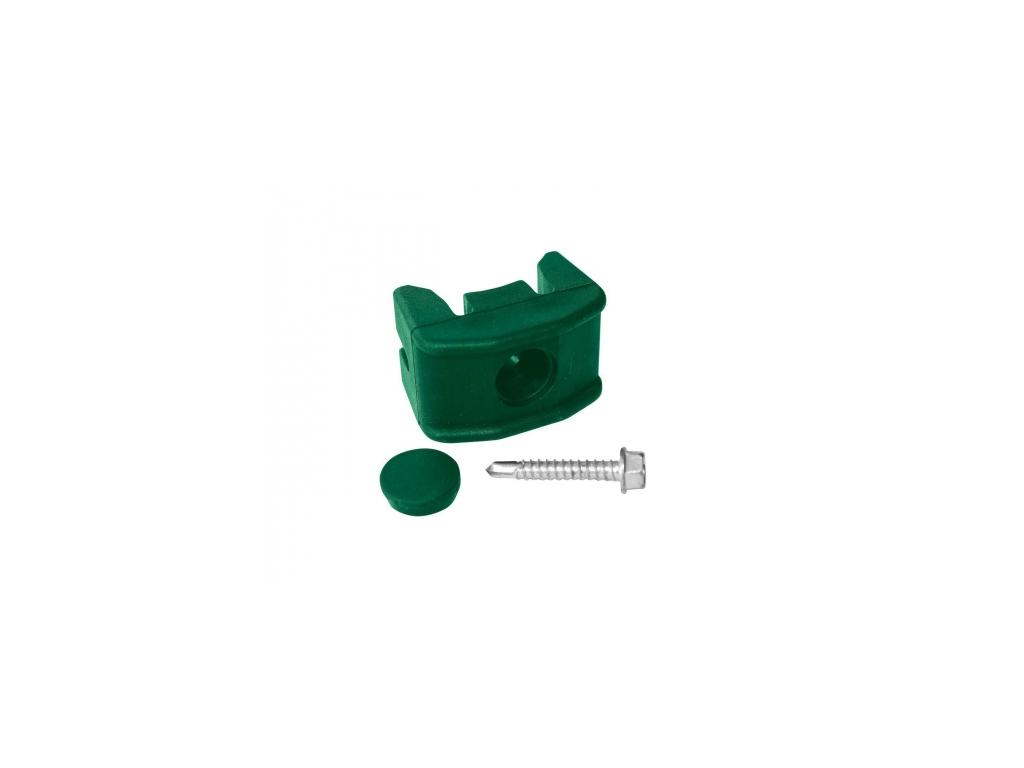 prichytka panelu pilofor pvc na sloupek prumer 48mm vcetne sroubu zelena 8595068450086