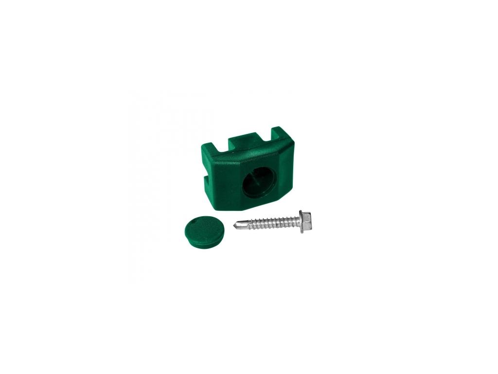 prichytka pvc na sloupek 60 40 mm pro panely pilofor vcetne sroubu zelena 8595068450079
