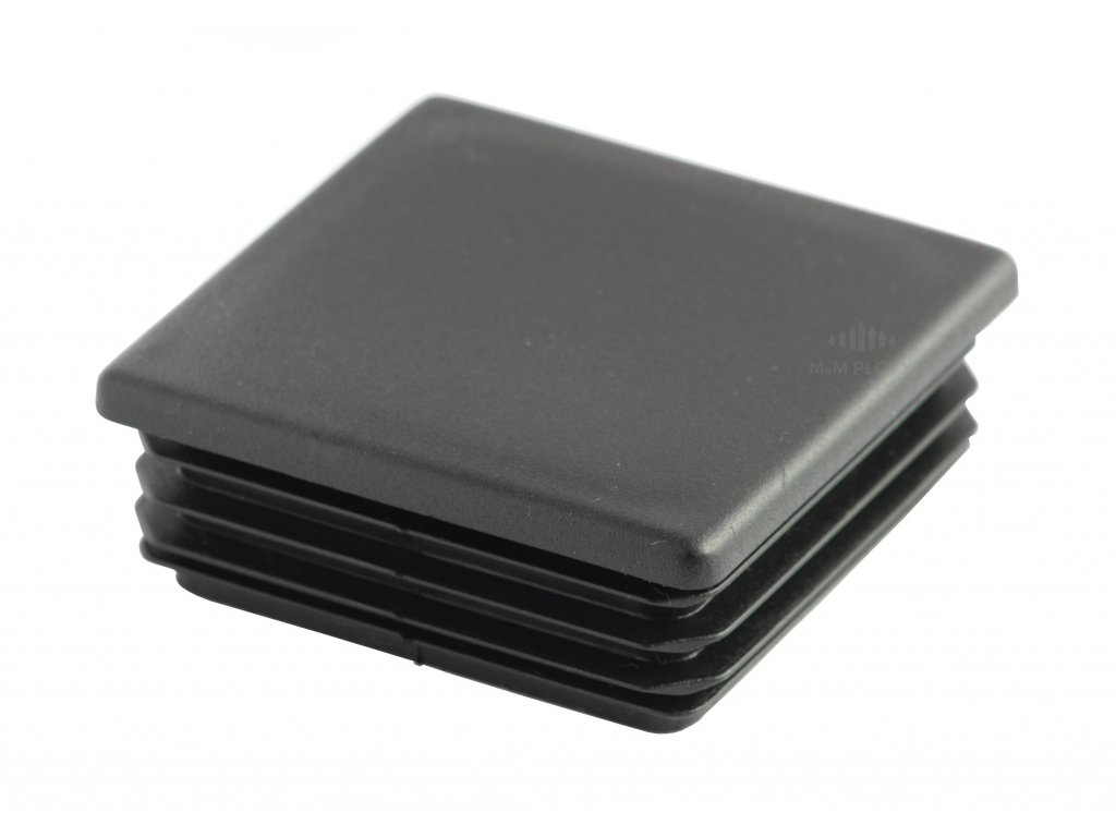 6117 plastova zaslepka 100x100 mm cerna