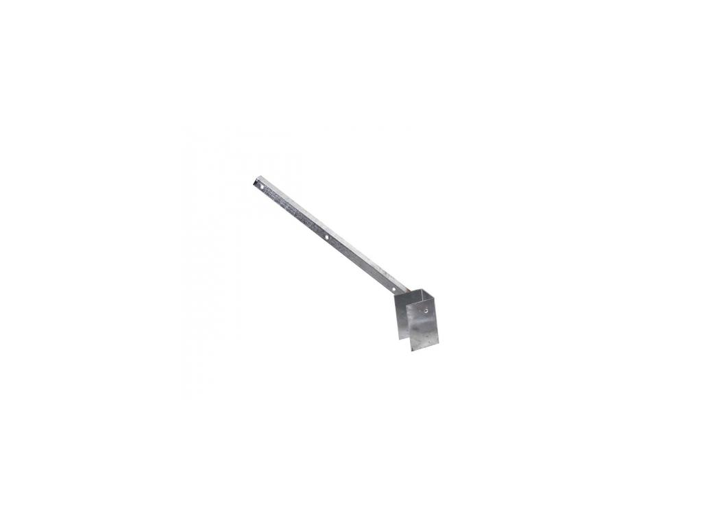 bavolet na ctyrhranny sloupek 60 60 mm jednostranny vnejsi pozinkovany zn 8595068412800
