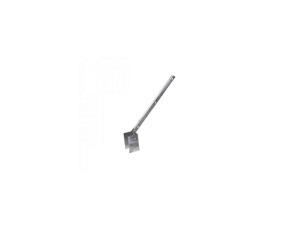 bavolet na ctyrhranny sloupek 60 60 mm jednostranny vnitrni pozinkovany zn 8595068403198