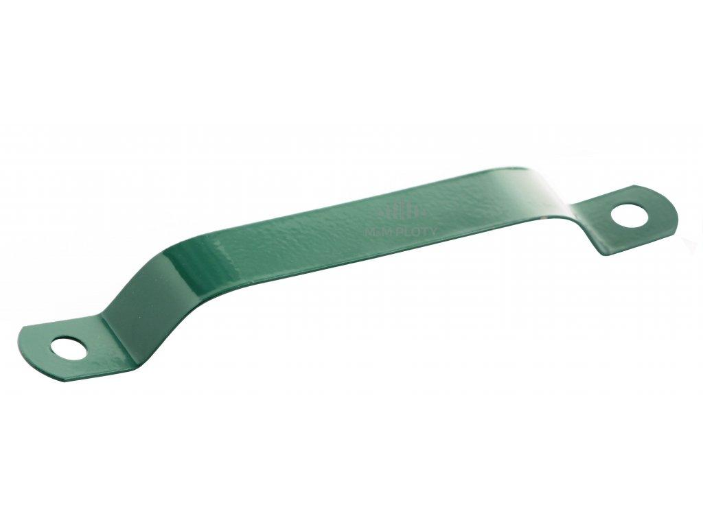 6657 objimka na sloupek 76 mm zelena