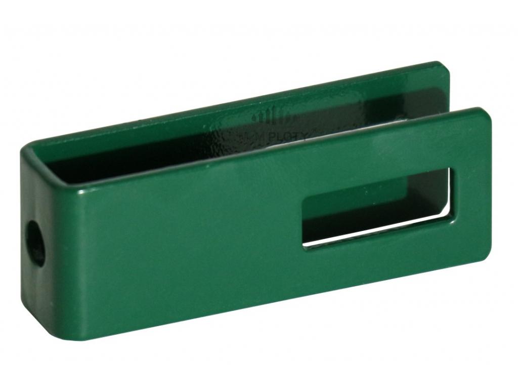 uchyt panelu univerzalni rodlouzeny zeleny