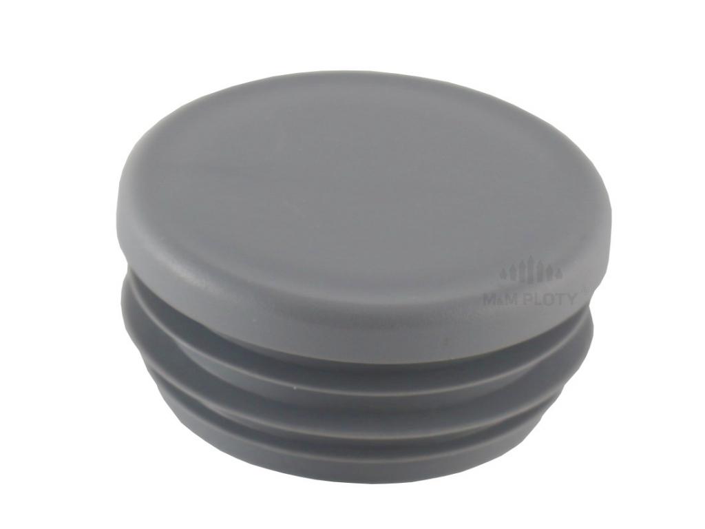 6893 plastova zaslepka prumer 76 mm seda