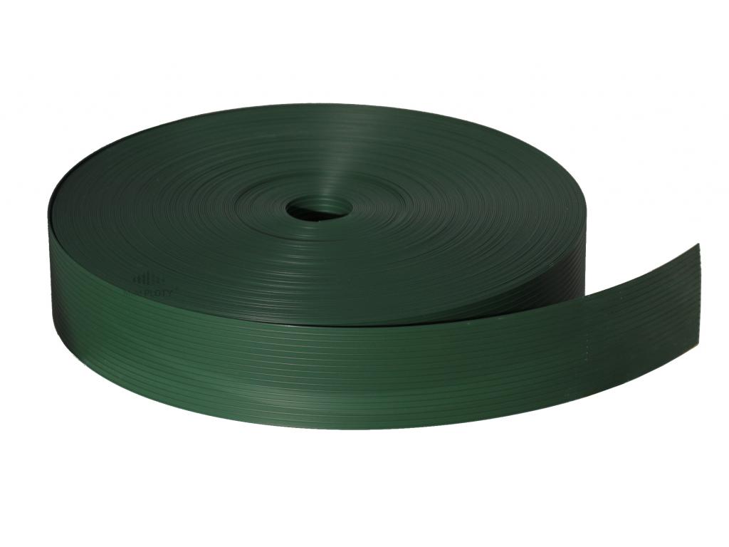 zelená stínící páska pletivo
