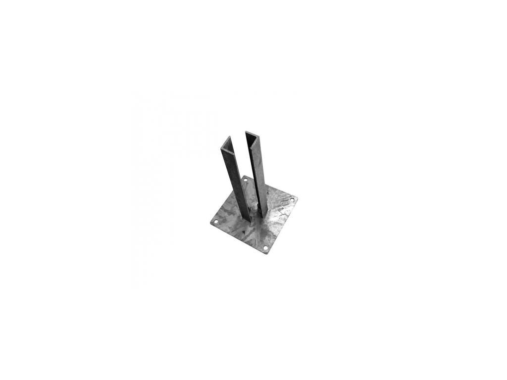 zn platle k montazi sloupku na betonovy zaklad pro sloupky profilu 70 70 mm 8595068412923