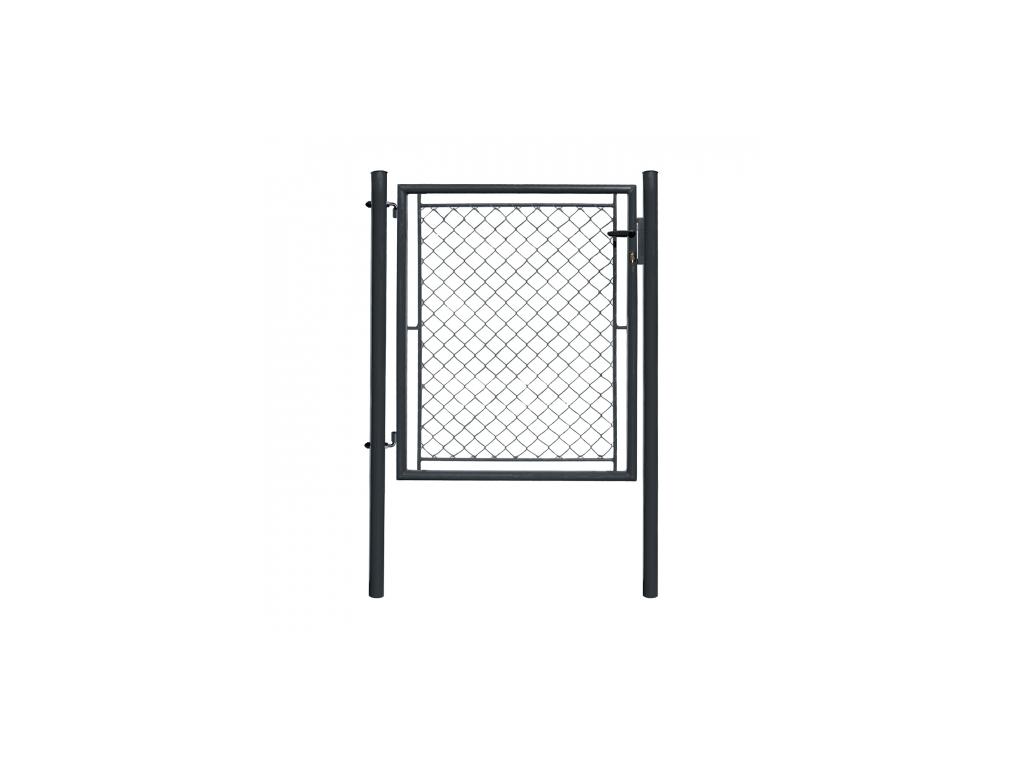 jednokridla branka ideal poplastovana zn pvc rozmer 1085 1450 mm barva antracit ral 7016 8595068453155