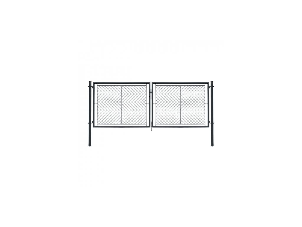 dvoukridla brana ideal ii poplastovana zn pvc rozmer 3605 1450 mm barva antracit ral 7016 8595068453216
