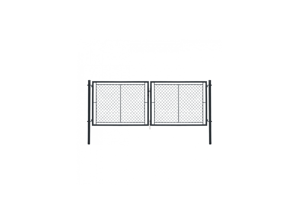 dvoukridla brana ideal ii poplastovana zn pvc rozmer 3605 1750 mm barva antracit ral 7016 8595068453230