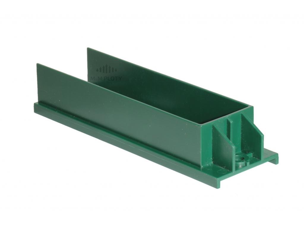 Držák podhrabové desky PE - výška 200 mm, zelený