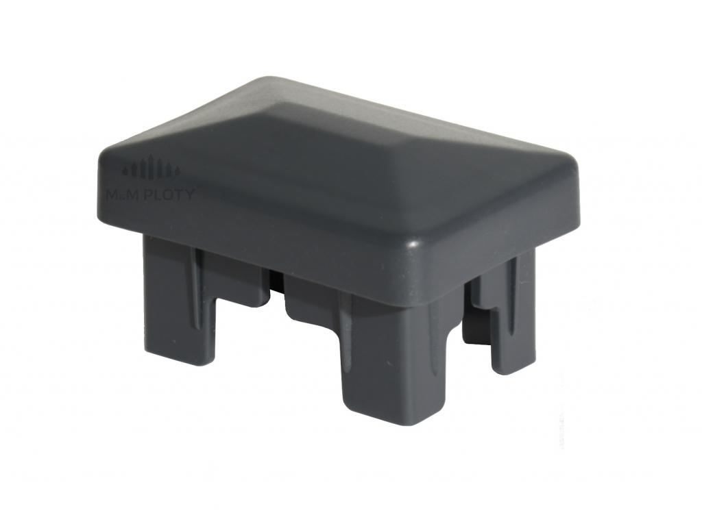 Čepička SUPER PE 60x40 mm, antracit