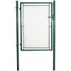 Jednokřídlá branka, pletivo Zn+PVC, rozměry 1085x1550 mm, zelená