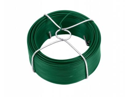 3281 vazaci drat poplastovany zn pvc prumer 1 4 mm 60 m zeleny