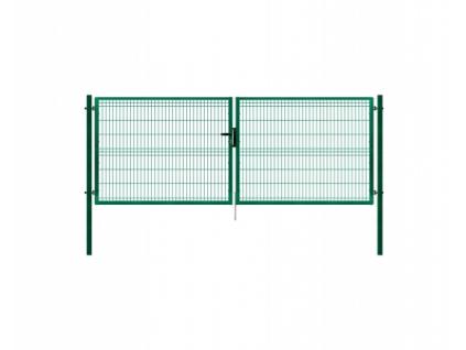 3404 dvoukridla brana panel 3d zelena rozmery 4118x1245 mm zn pvc