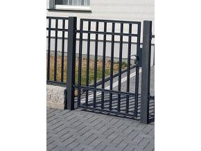 Vchodová branka - Liniová uzavřená, grafit
