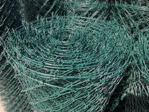 Poplastované pletivo STANDART s ND výška 200 cm, drát 2,5 mm, oko 55x55 mm, PVC, zelené