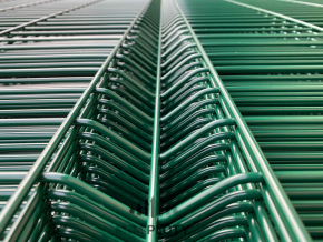 Plotový panel 3D CLASSIC Zn+PVC - výška 243 cm, Ø drátu 5 mm, zelený