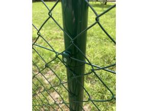 Poplastované pletivo SUPER bez ND výška 180 cm, drát 3,0 mm, oko 50x50 mm, PVC, zelené