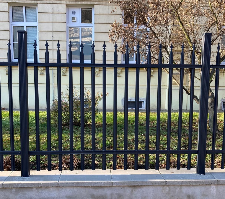 Kovové plotové pole - Liniové standard, grafit Rozměry(š x v): 200 x 100 cm