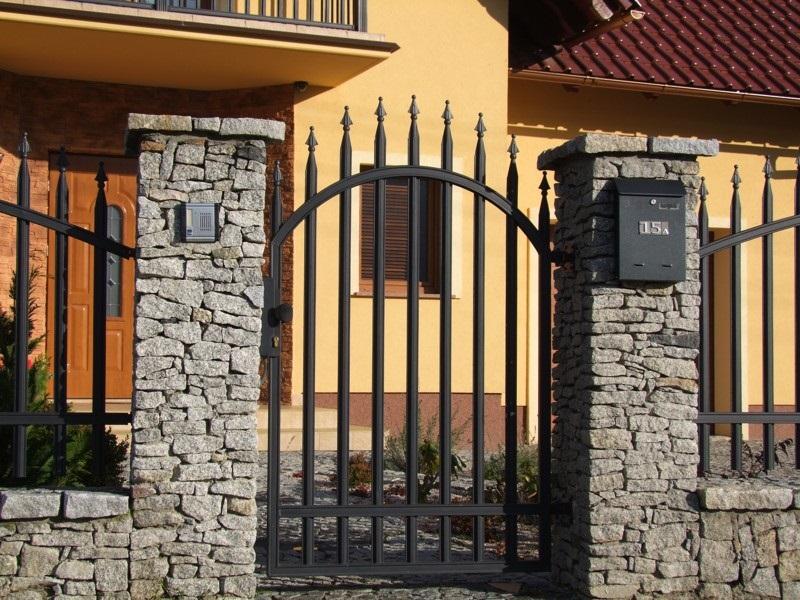 Vchodová branka - Radius standard, grafit Rozměry (š x v): 106 x 150 cm