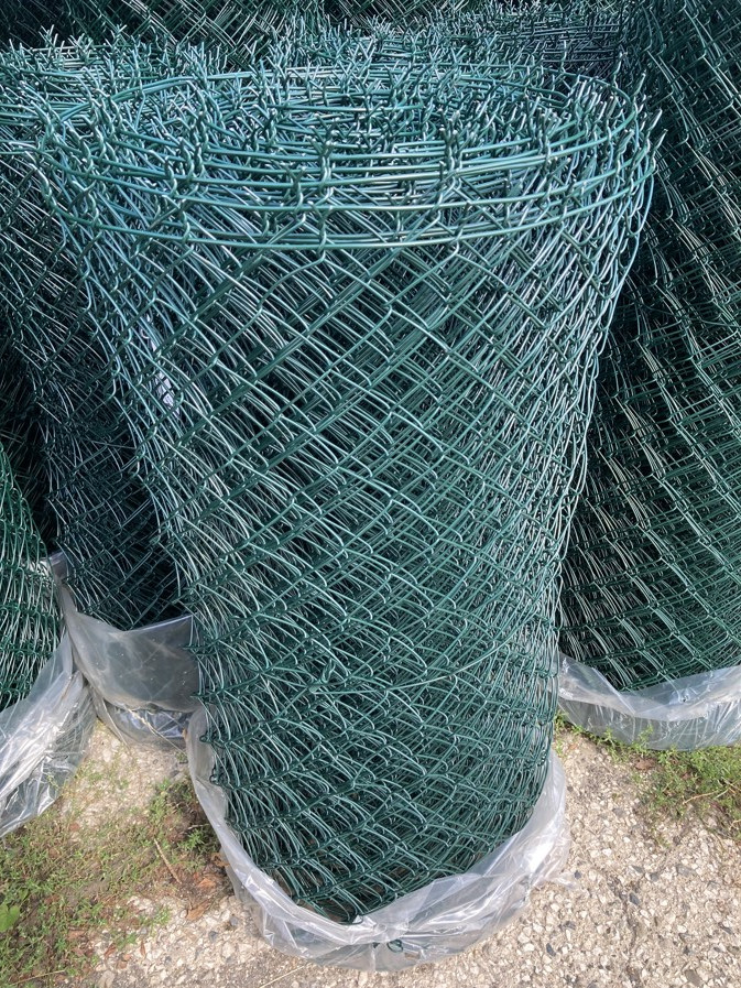 Pletivo poplastované výška 160 cm s ND (2,5 mm; 55x55 mm; PVC; zelené)
