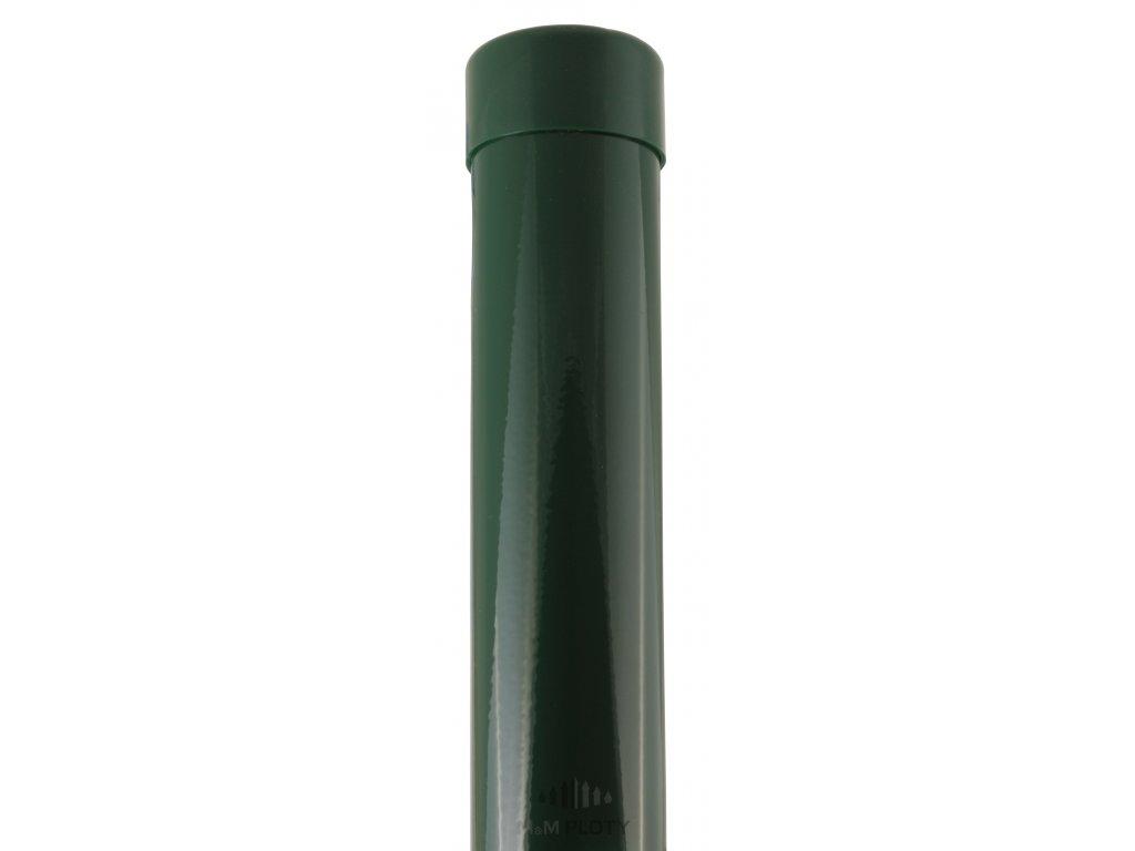 Plotový sloupek zelený, průměr 38 mm, výška 175 cm