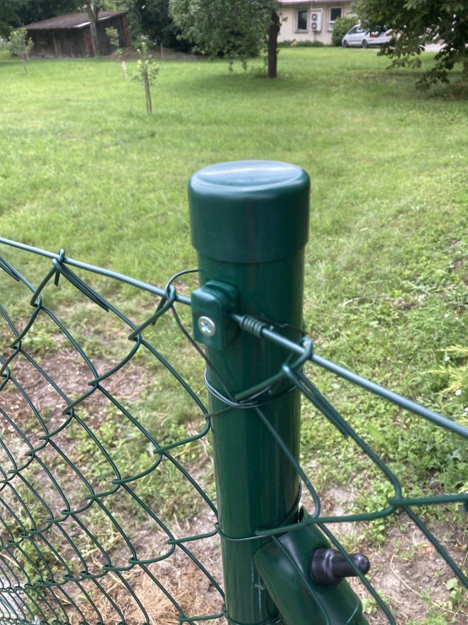 Plotový sloupek zelený průměr 48 mm, výška 310 cm