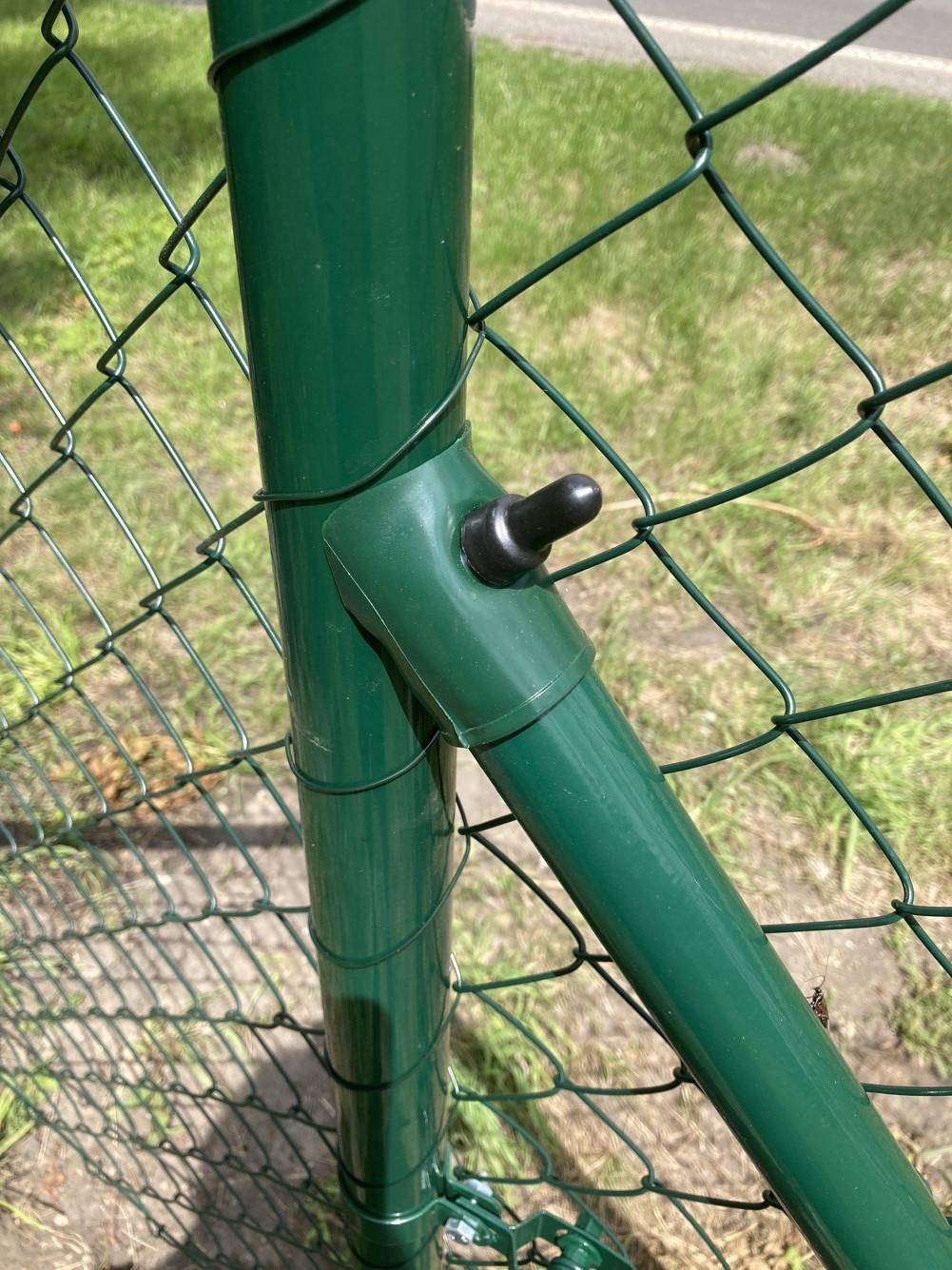 Vzpěra poplastovaná - Zn+PVC, výška 250 cm, 38 mm průměr