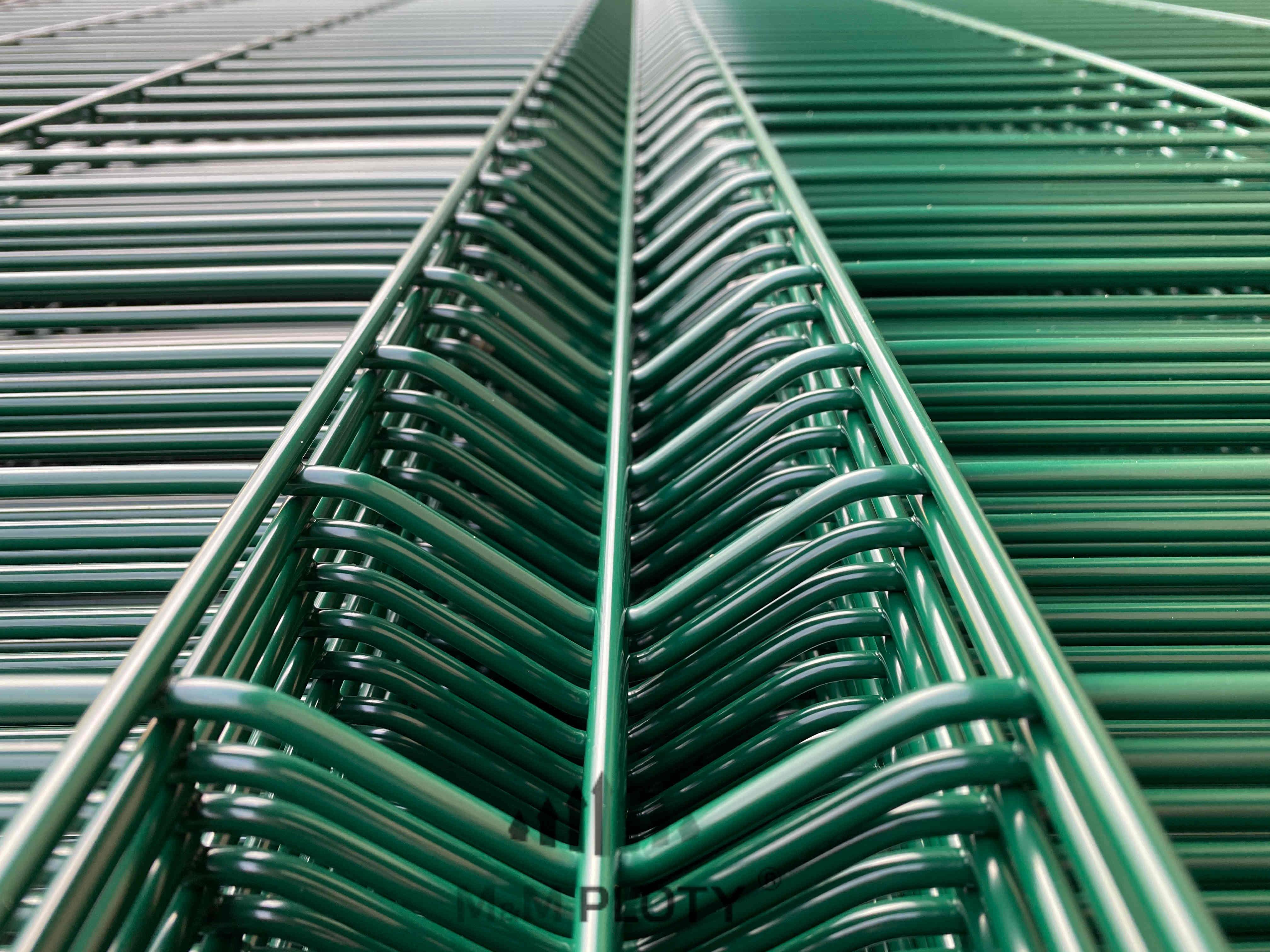 Plotový panel 3D CLASSIC Zn+PVC - výška 243 cm, Ø drátu 5 mm