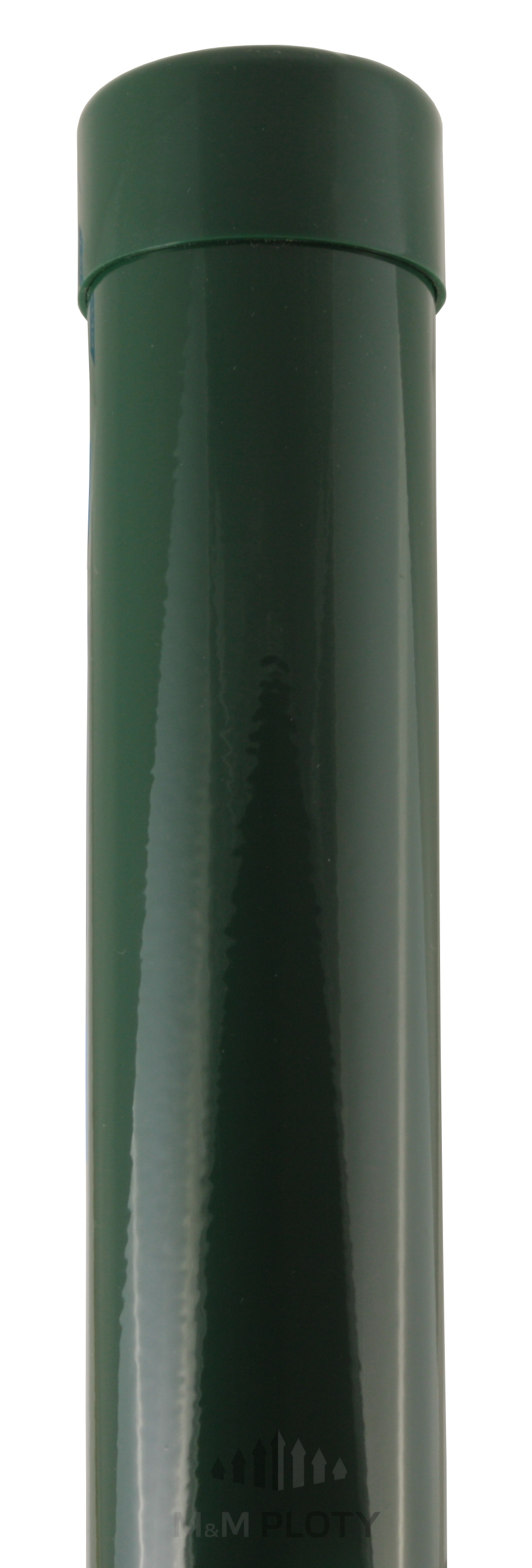 Plotový sloupek zelený, průměr 48 mm, výška 175 cm