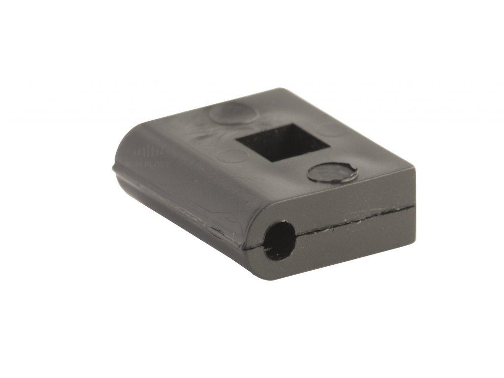 Plastový vymezovač plotového panelu, černý, průměr drátu 4 mm