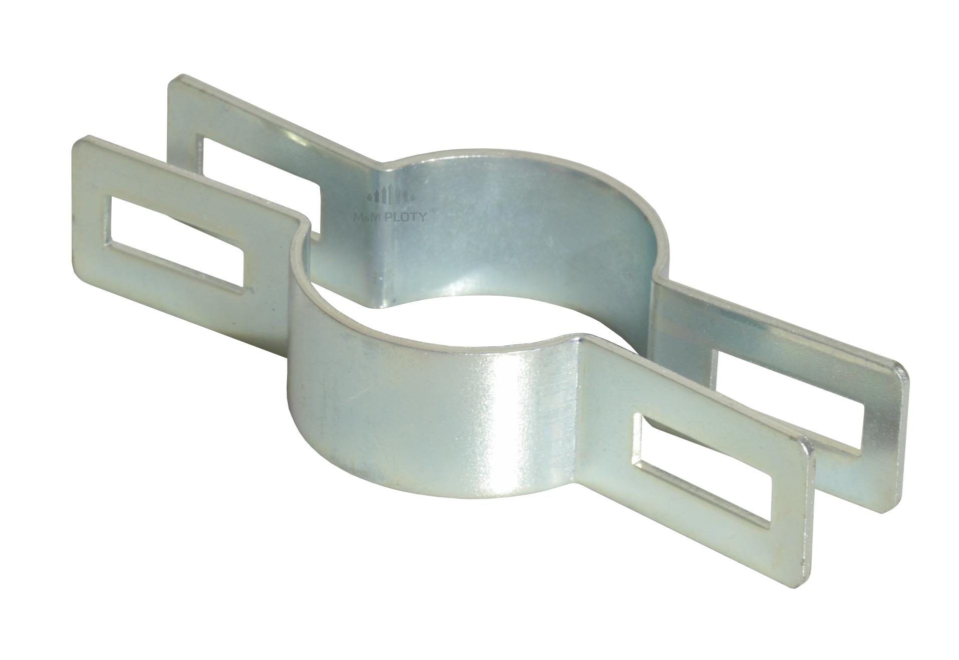 Objímka plotového panelu pro sloupek 60 mm, průběžná, Zn
