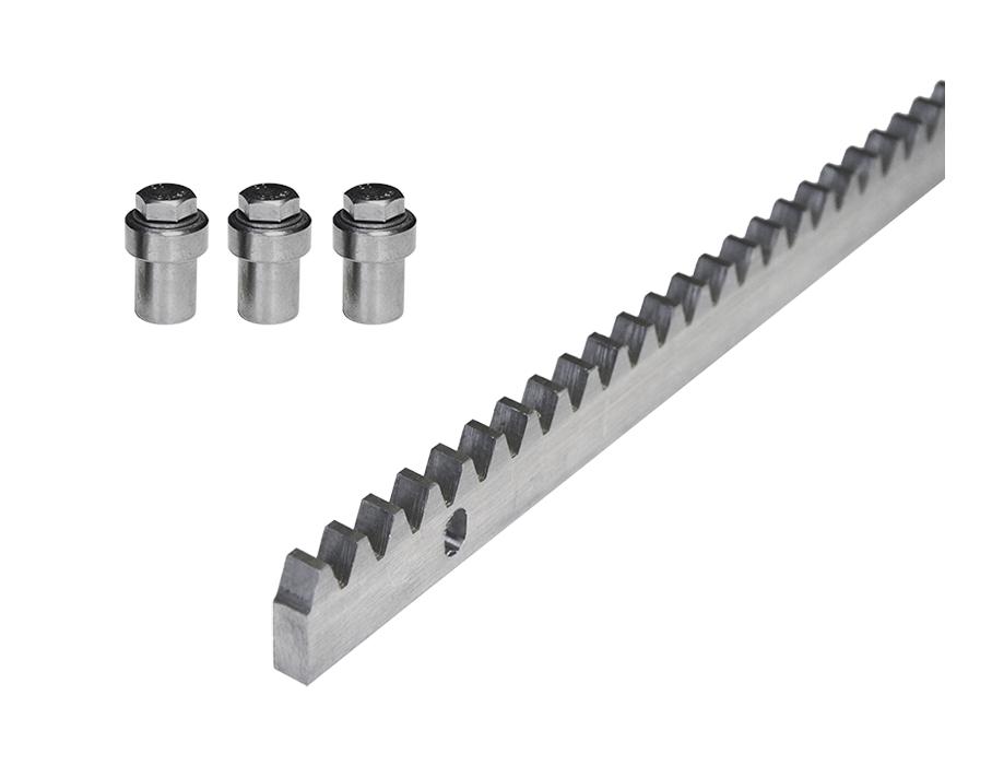 Ozubený hřeben pro posuvnou bránu, ocelový, tloušťka 10 mm, 1 m
