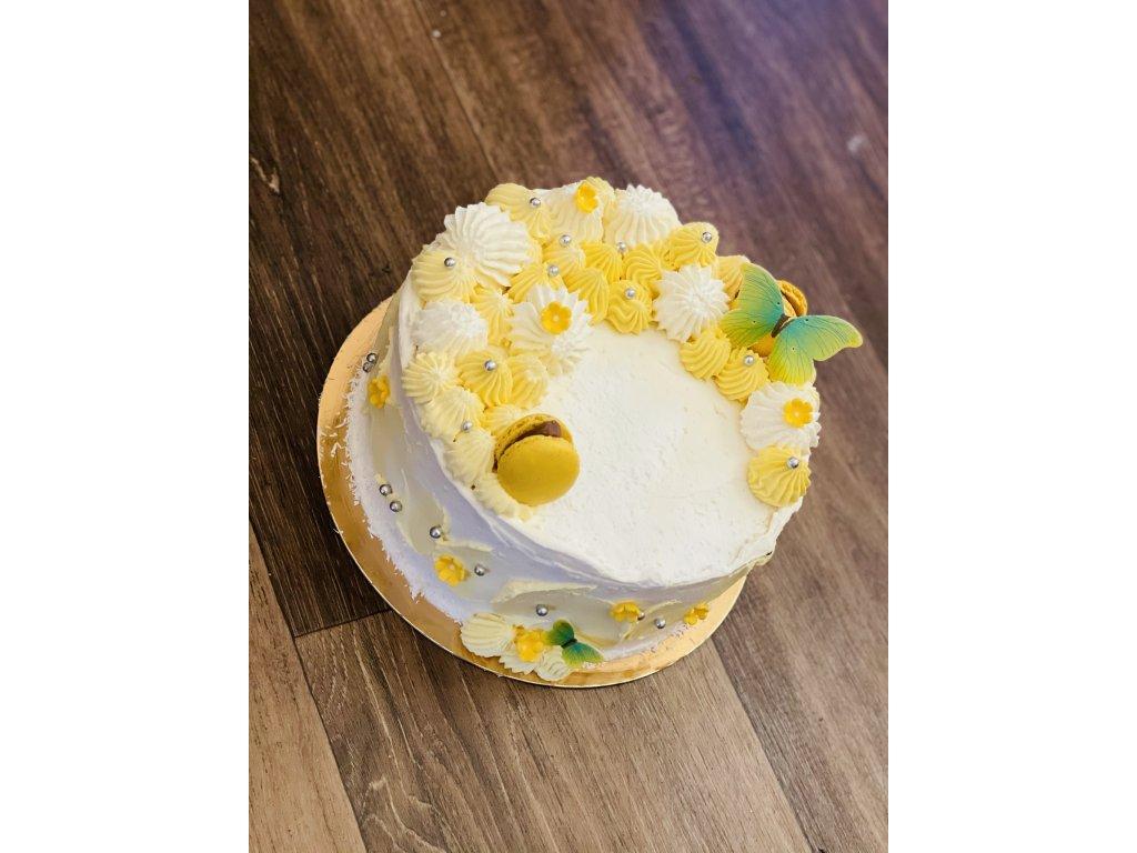 Letní dort s mangem a maracujou