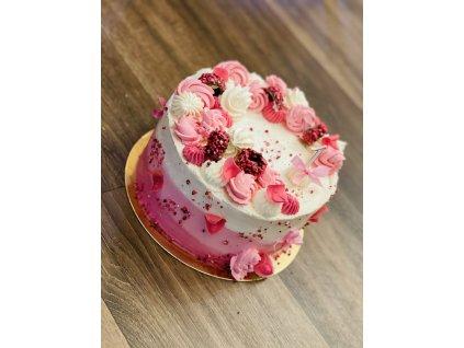 Růžový dort pro nejmenší