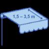 Prima (výsuv 1,5-3,5 m)