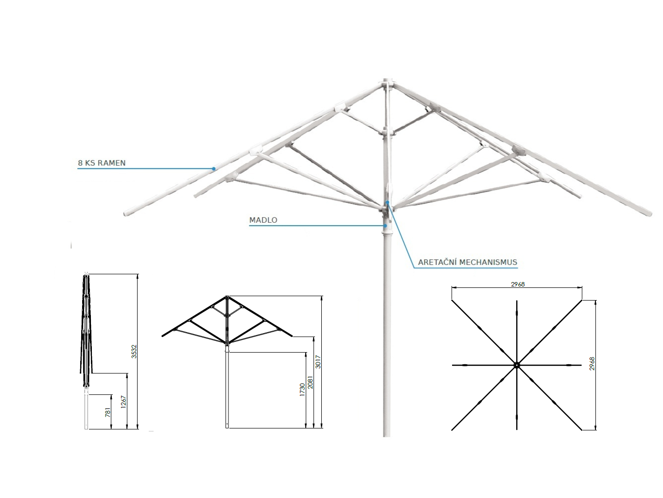 slunecnik-3-x-3-m-konstrukce