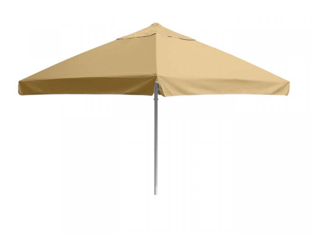 Velký slunečník 3,5 × 3,5 m (béžový)