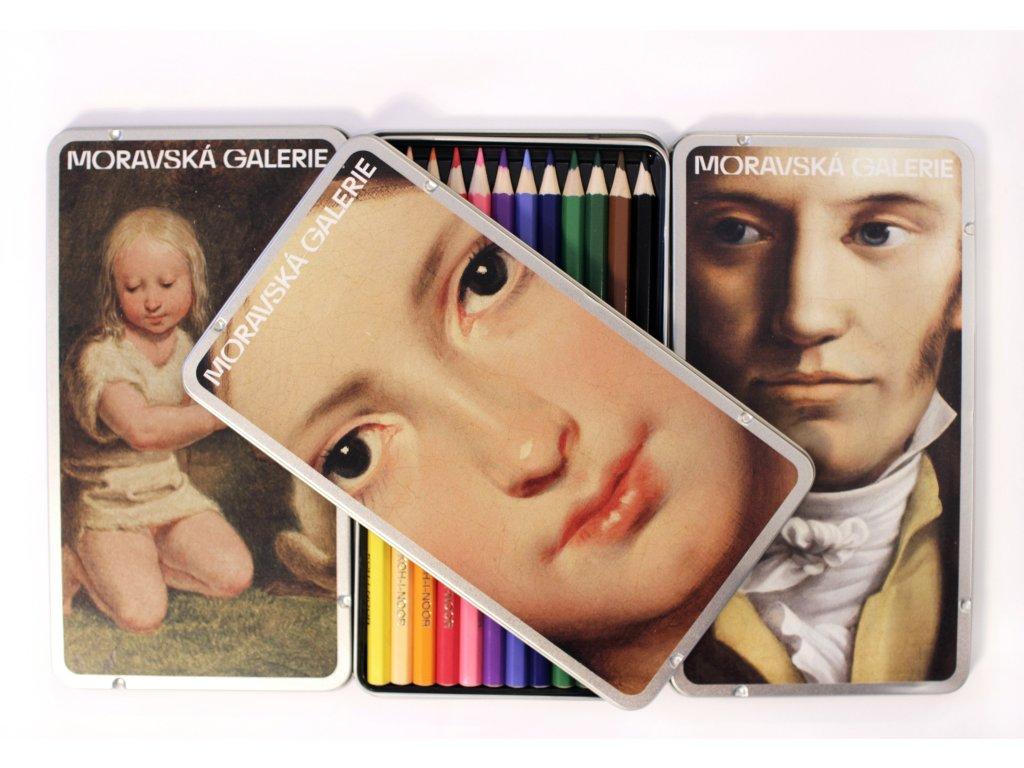 Pastelky Moravská galerie 12 ks (RŮZNÉ MOTIVY)