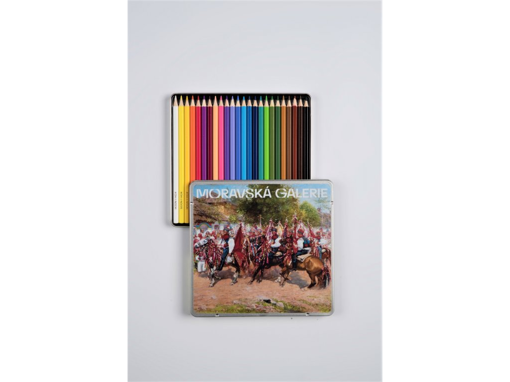 Pastelky Moravská galerie 24 ks (RŮZNÉ MOTIVY)