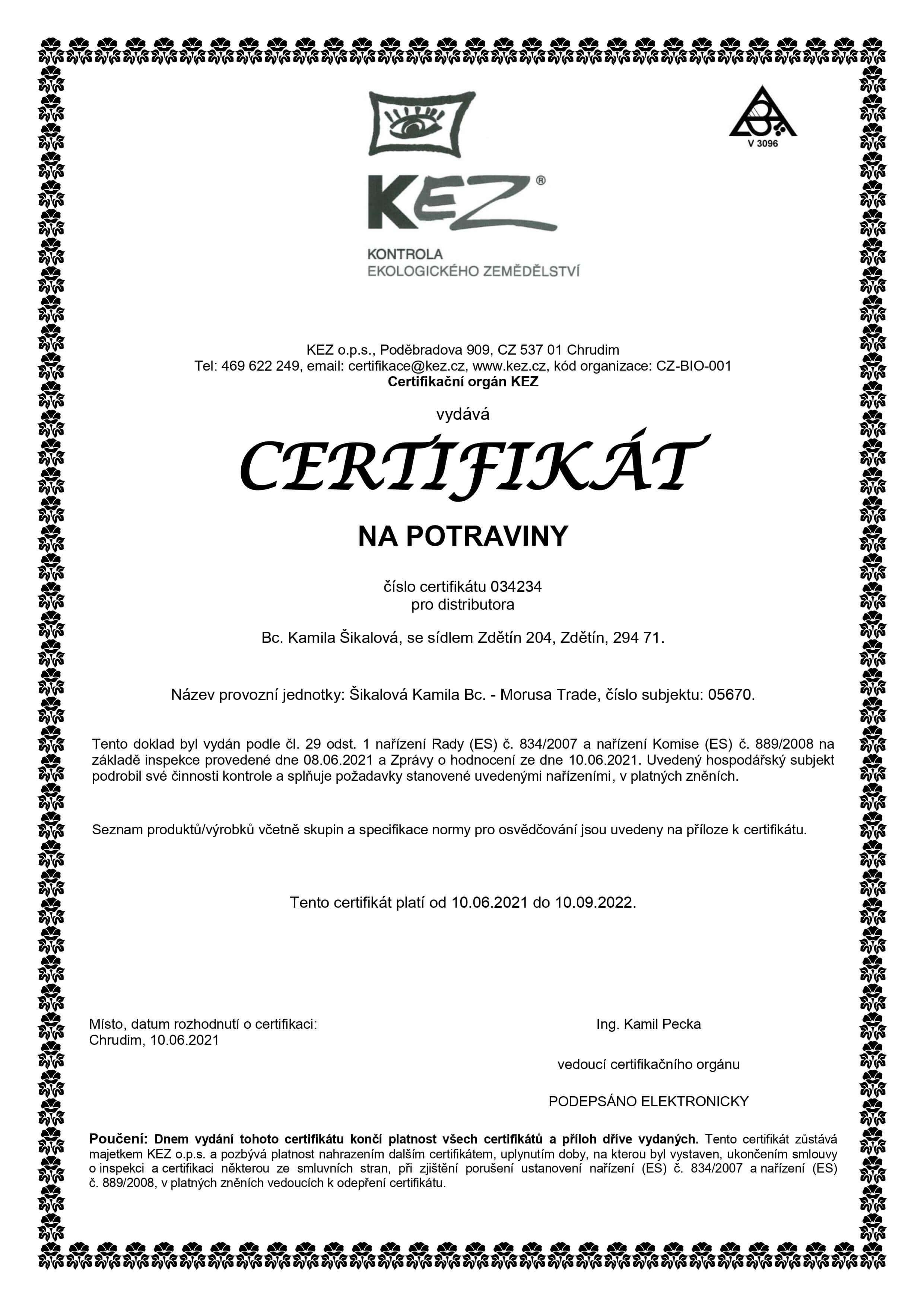 bio-certifikace