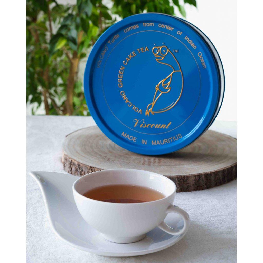 MauriceBay Volcano Turtle Tea Viscount - hermeticky stlačený sypaný zelený čaj v dárkovém balení, 300g